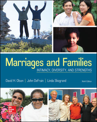 Test Bank For Marriages and Families: Intimacy, Diversity, and Strengths 9th EditionBy David Olson,John DeFrain,Linda Skogrand,ISBN10: 1259914291,ISBN13: 9781259914294