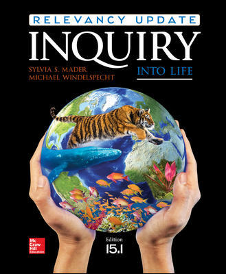 Test Bank for Inquiry into Life: Relevancy Update 15th Edition By Sylvia Mader ,Michael Windelspecht ISBN10: 126017767X ISBN13: 9781260177671