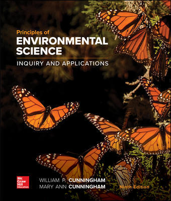 Test Bank For Principles of Environmental Science 9th Edition By William Cunningham, Mary Cunningham,ISBN10: 1260219712,ISBN13: 9781260219715