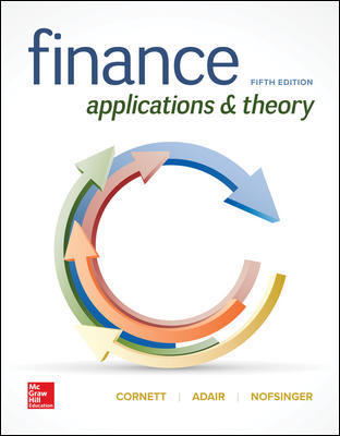 Solution Manual For Finance Applications and Theory 5th Edition By Marcia Cornett, Troy Adair, John Nofsinger, ISBN 10 1260013987, ISBN 13 9781260013986