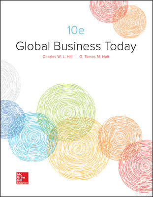 Solution Manual For Global Business Today 10th Edition By Charles W. L. Hill, G. Tomas M. Hult, ISBN 10 1259686698, ISBN 13 9781259686696
