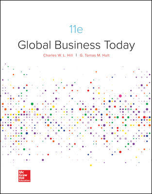 Solution Manual For Global Business Today 11th Edition By Charles W. L. Hill, G. Tomas M. Hult, ISBN 10 1260088375, ISBN 13 9781260088373