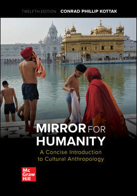 Solution Manual For MIRROR HUMANITY CONCISE INTRO CULTURAL ANTHRO 12th Edition By Conrad Kottak, ISBN 10 1260071421, ISBN 13 9781260071429