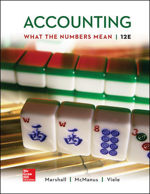 Solution Manual for Accounting What the Numbers Mean 12th Edition By David Marshall, ISBN 10 1259969525, ISBN 13 9781259969522