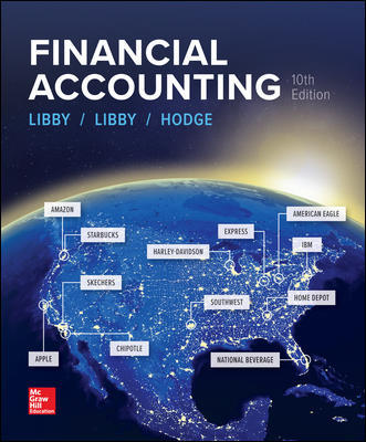 Solution Manual for Financial Accounting 10th Edition By Robert Libby, Patricia Libby, Frank Hodge, ISBN 10 1259964949, ISBN 13 9781259964947