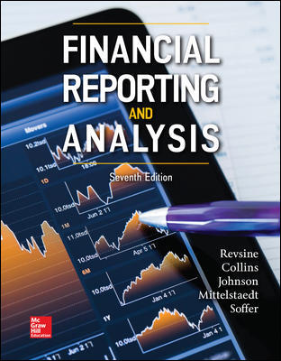 Solution Manual for Financial Reporting and Analysis 7th Edition By Lawrence Revsine, Daniel Collins, Bruce Johnson, Fred Mittelstaedt, Leonard Soffer, ISBN 10 1259722651, ISBN 13 9781259722653