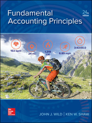 Solution Manual for Fundamental Accounting Principles 24th Edition By John Wild, Ken Shaw ISBN 10 1259916960, ISBN 13 9781259916960