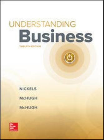 Test Bank (Downloadable Files) for Understanding Business, 12th Edition, Nickels, ISBN-10: 126009233X, ISBN-13: 9781260092332