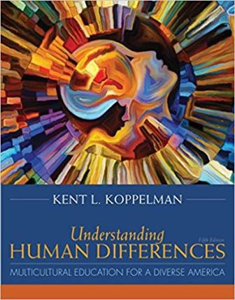 Test Bank (Downloadable Files) for Understanding Human Differences: Multicultural Education for a Diverse America, 5th Edition, Koppelman, ISBN-10: 0134044312, ISBN-13: 9780134044316