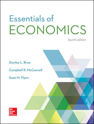 Test Bank For Essentials of Economics 4th Edition By Stanley Brue, Campbell McConnell, Sean Flynn, ISBN 10 1259234622, ISBN 13 9781259234620