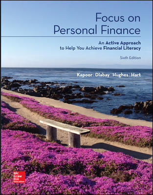 Test Bank For Focus on Personal Finance 6th Edition By Jack Kapoor, Les Dlabay, Robert J. Hughes, Melissa Hart, ISBN 10 125991965X, ISBN 13 9781259919657