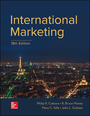 Test Bank For International Marketing 18th Edition By Philip Cateora, John Graham, Mary Gilly, Bruce Money, ISBN 10 1259712354, ISBN 13 9781259712357