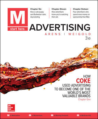 Test Bank For M Advertising 3rd Edition By William Arens, Michael Weigold, ISBN 10 1259815943, ISBN 13 9781259815942