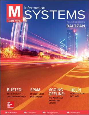 Test Bank For M Information Systems 4th Edition By Paige Baltzan, ISBN 10 1259814297, ISBN 13 9781259814297