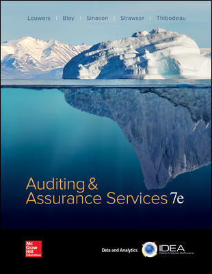 Test Bank for Auditing & Assurance Services 7th Edition By Timothy Louwers, Allen Blay, David Sinason, Jerry Strawser, Jay Thibodeau, ISBN 10 1259573281, ISBN 13 9781259573286