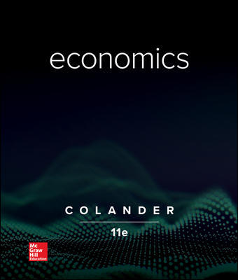 Test Bank for Economics 11th Edition By David Colander, ISBN 10 1260225585, ISBN 13 9781260225587