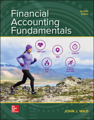 Test Bank for Financial Accounting Fundamentals 7th Edition By John Wild ISBN 10 1260247864, ISBN 13 9781260247862
