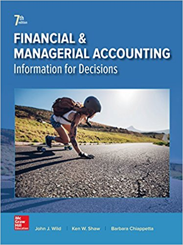 Test Bank for Financial and Managerial Accounting 7th Edition John Wild, Ken Shaw, Barbara Chiappetta ISBN: 978-1259726705 978-1259726705