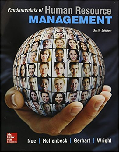Test Bank for Fundamentals of Human Resource Management 6th Edition Raymond Noe, John Hollenbeck, Barry Gerhart, Patrick Wright ISBN: 978-0077718367 978-0077718367