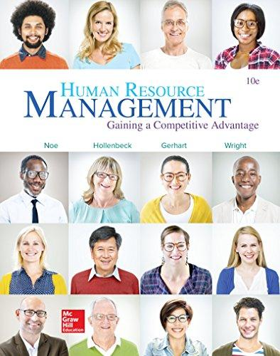 Test Bank for Human Resource Management 10th Edition Raymond Noe, John Hollenbeck, Barry Gerhart, Patrick Wright ISBN: 9781259578120 9781259578120