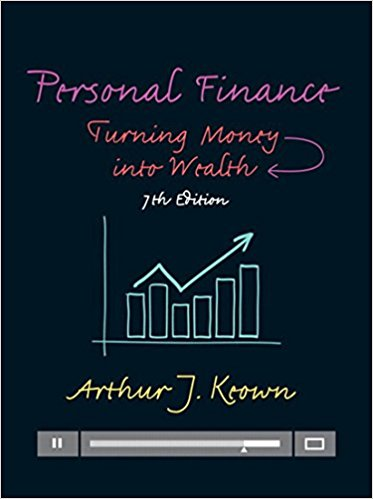 Test Bank for Personal Finance Turning Money into Wealth 7th Edition Arthur J. Keown ISBN: 978-0133856439 978-0133856439