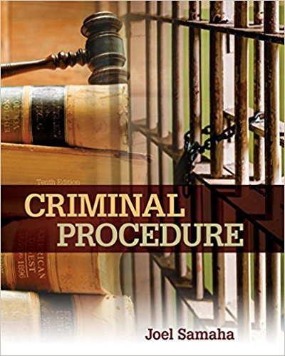 Test bank for Criminal Procedure 10th Edition Joel Samaha ISBN: 9781305969001 9781305969001Test bank for Criminal Procedure 10th Edition Joel Samaha ISBN: 9781305969001 9781305969001