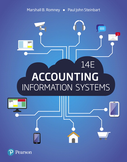 Solution Manual For Accounting Information Systems, 14th Edition By Marshall B. Romney,Paul J. Steinbart,ISBN-13:9780134475608