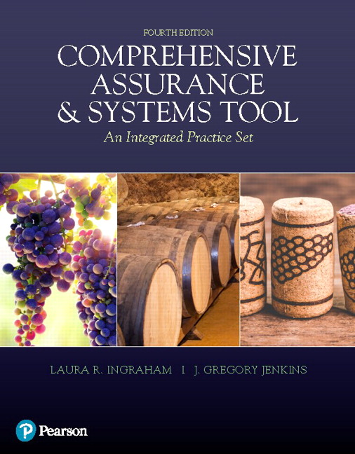 Solution Manual For Comprehensive Assurance & Systems Tool (CAST), 4th Edition Laura R. Ingraham,J. Greg Jenkins,ISBN-13:9780135839669