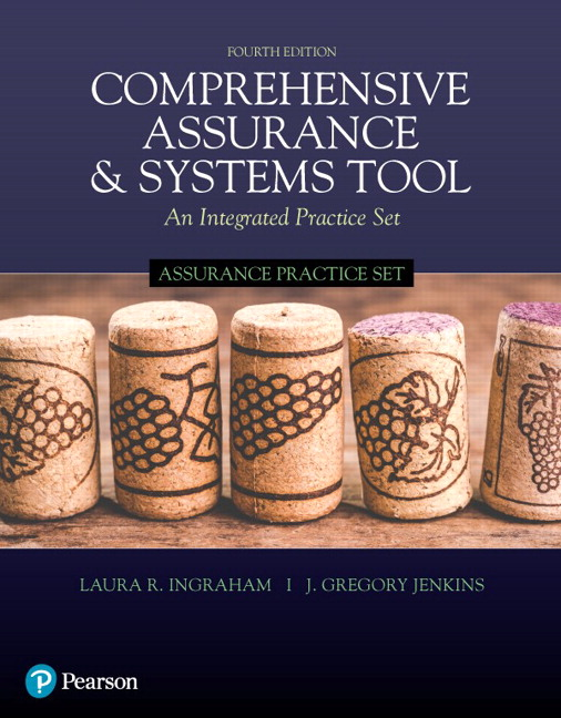 Solution Manual For Assurance Practice Set for Comprehensive Assurance & Systems Tool (CAST), 4th Edition By Laura R. Ingraham,J. Greg Jenkins, ISBN-13:9780134791289