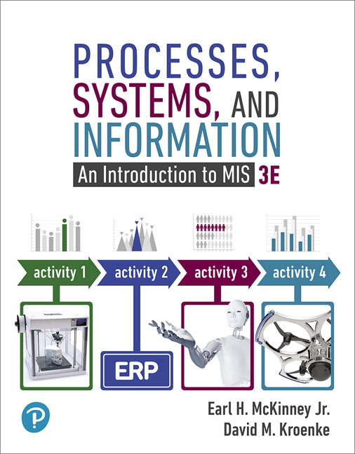 Test Bank For Processes, Systems, and Information: An Introduction to MIS, 3rd Edition By Earl H. McKinney Jr.,David M. Kroenke,ISBN-13:9780134827063
