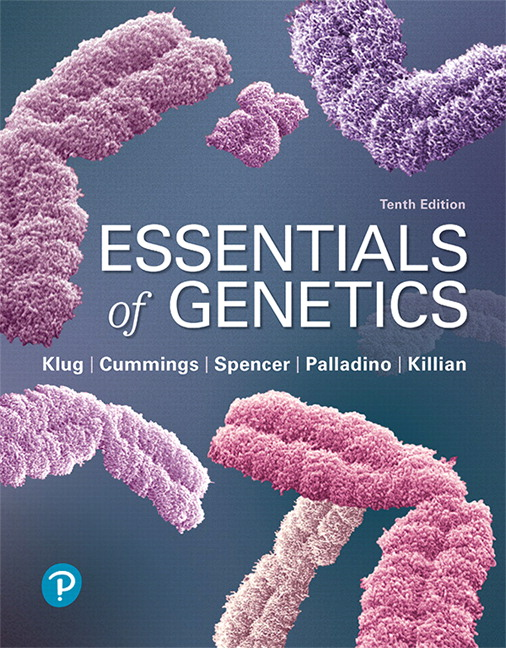 Test Bank For Essentials of Genetics, 10th Edition By William S. Klug,Michael R. Cummings,Charlotte A. Spencer, Michael A. Palladino, Darrell Killian,ISBN-13:9780135272824