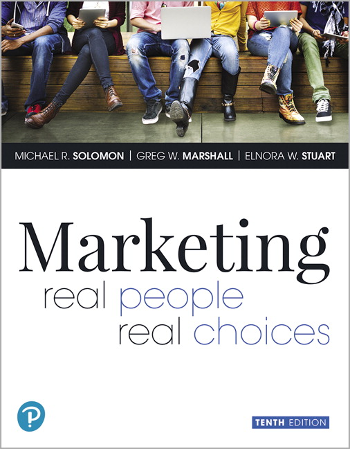 Solution Manual For Marketing: Real People, Real Choices , 10th Edition By Michael Solomon, Greg W. Marshall,Elnora W. Stuart, ISBN-13:9780135200001