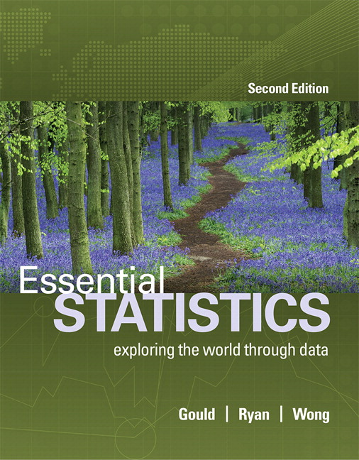 Solution Manual For Essential Statistics, Plus MyLab Statistics with Pearson eText 2nd Edition By Rob Gould, Colleen N. Ryan, Rebecca Wong, ISBN-10 0134466012, ISBN-13 9780134466019