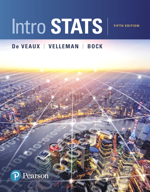 Solution Manual For Intro Stats, 5th Edition By Richard D. De Veaux, Paul F. Velleman, David E. Bock, ISBN-10 0134210220, ISBN-13 9780134210223