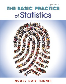 Test Bank For Basic Practice of Statistics 8th Edition| ©2018 By David S. Moore, William I. Notz,Michael Fligner,ISBN:9781319057046
