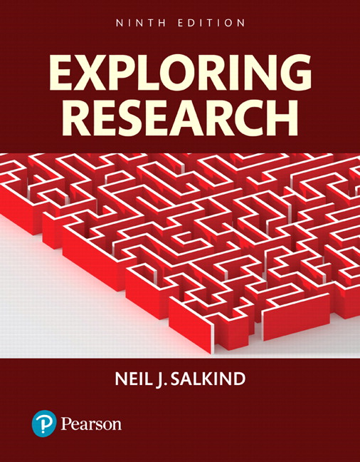 Test Bank For Exploring Research, Books a la Carte 9th Edition By Neil J. Salkind, ISBN-139780134416588, ISBN-139780134238418