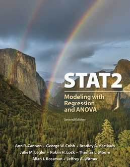 Test Bank For STAT2 Modeling with Regression and ANOVA 2nd Edition| ©2019 by Ann Cannon,George W. Cobb,Bradley A. Hartlaub,Julie M. Legler,Robin H. Lock,Thomas L. Moore,llan J. Rossman,Jeffrey A. Witmer,ISBN:9781319209513