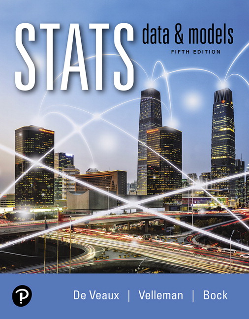 Test Bank For Stats: Data and Models Plus MyLab Statistics with Pearson eText 5th Edition By Richard D. De Veaux, Paul F. Velleman, David E. Bock, ISBN-10: 0135256216, ISBN-13: 9780135256213