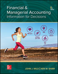 Solution Manual (Downloadable Files) for Financial and Managerial Accounting, 8th Edition, John Wild, Ken Shaw, ISBN10: 1260247856, ISBN13: 9781260247855