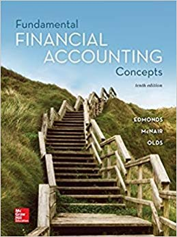 Solution Manual (Downloadable Files) for Fundamental Financial Accounting Concepts, 10th Edition, Thomas P Edmonds, Christopher Edmonds, Frances M McNair, Philip R Olds, ISBN-10: 1259918181, ISBN-13: 9781259918186