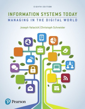 Solution Manual (Downloadable Files) for Information Systems Today, 8th Edition, Joseph Valacich, ISBN-10: 0134635205, ISBN-13: 9780134635200