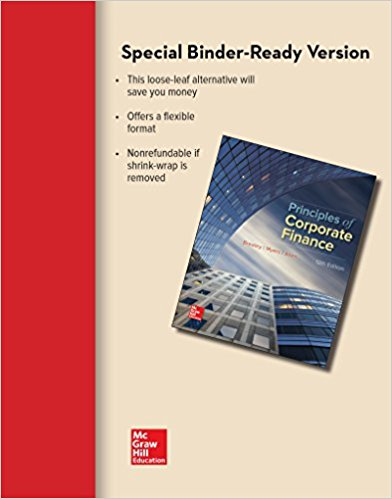 Solution Manual for Principles of Corporate Finance 12th Edition By Richard Brealey, Stewart Myers, Franklin Allen, ISBN 9781259718991