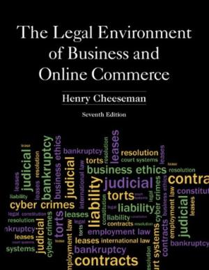 Solution Manual for The Legal Environment of Business and Online Commerce 7th Edition By Henry R. Cheeseman, ISBN 9780132870887