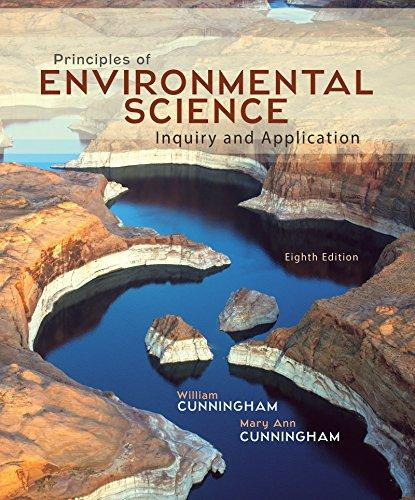 Solution manual for Principles of Environmental Science 8th Edition By William Cunningham, Mary Cunningham, ISBN 9780078036071