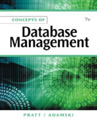 Test Bank (Downloadable Files) for Concepts of Database Management, 7th Edition, Philip J. Pratt, Joseph J. Adamski, ISBN-10: 1111825912, ISBN-13: 9781111825911