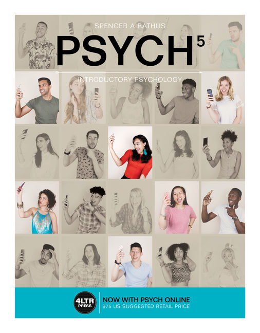 Test Bank For PSYCH 5, Introductory Psychology, 5th Edition, 5th Edition By Spencer A. Rathus,ISBN-10: 1305666607, ISBN-13: 9781305666603