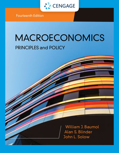Test Bank For Macroeconomics: Principles & Policy, 14th Edition By William J. Baumol, Alan S. Blinder, John L. Solow, ISBN-10: 1337912433, ISBN-13: 9781337912433