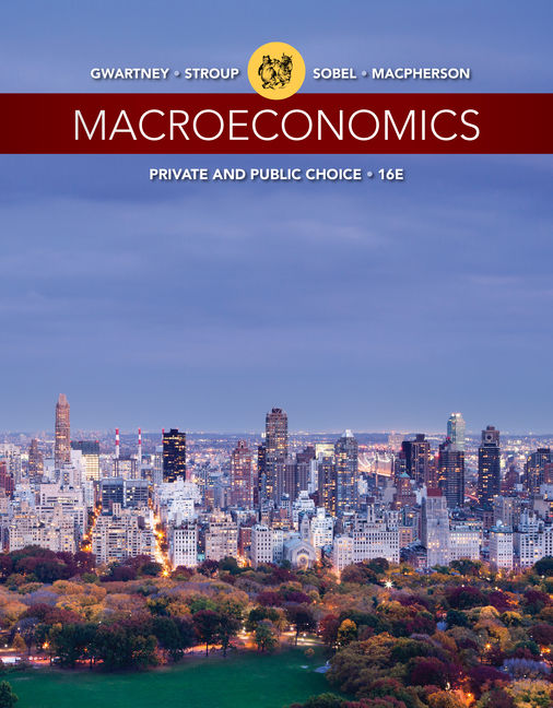 Test Bank For Macroeconomics: Private and Public Choice, 16th Edition By James D. Gwartney, Richard L. Stroup, Russell S. Sobel, David A. Macpherson, ISBN-10: 1305648099, ISBN-13: 9781305648098