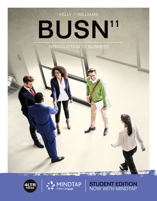Test Bank for BUSN, 11th Edition By Marcella Kelly, Chuck Williams, ISBN-10: 1337911259, ISBN-13: 9781337911252